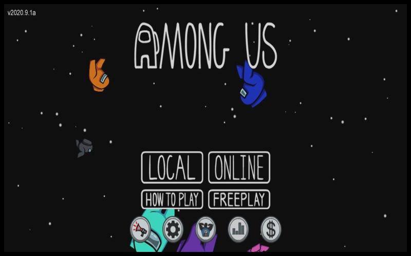 Giao diện đăng nhập vào game Among Us