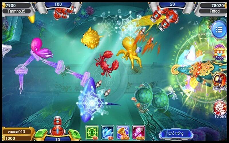 Giao diện chơi game bắn cá h5