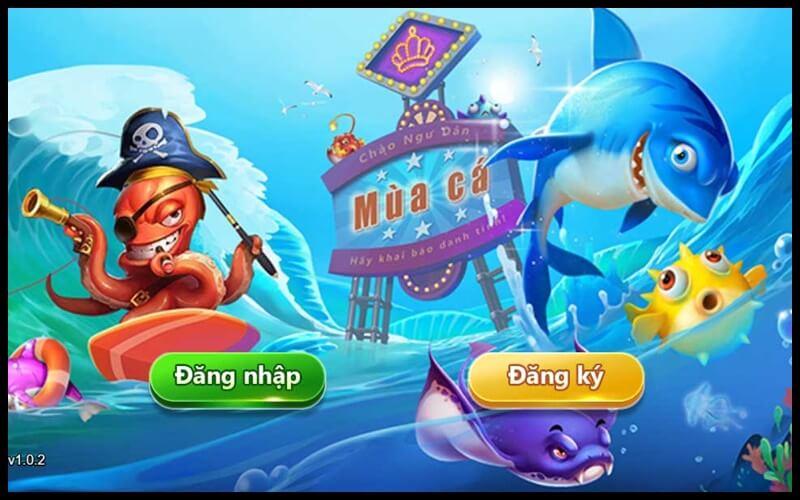 Giao diện đăng nhập game bắn cá h5