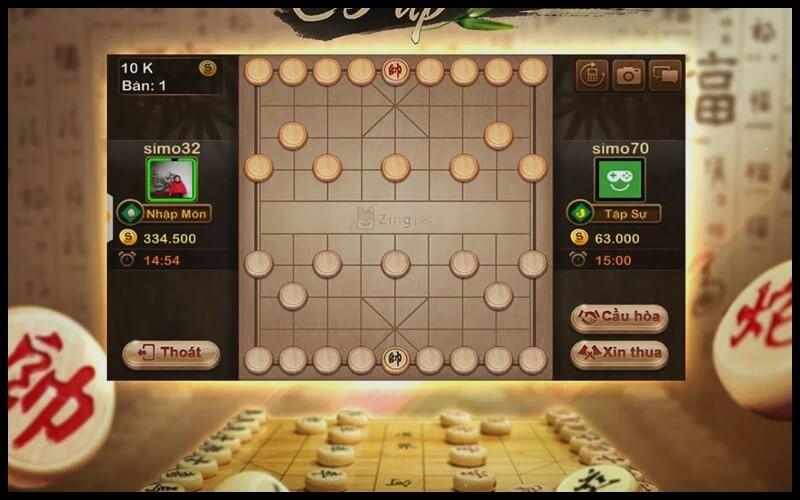 giao diện game cờ tướng zingplay