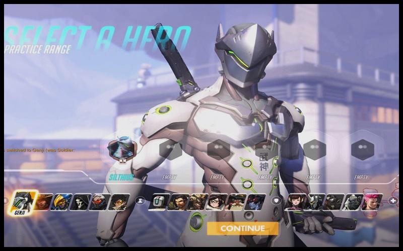 Giao diện chọn nhân vật trong game Overwatch