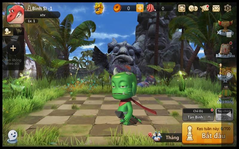 Hình ảnh nhân vật khi mới vào game