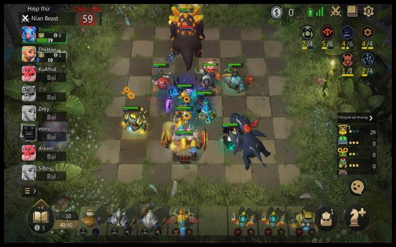 Giao diện chơi game Auto Chess